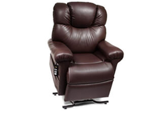 dark brown leather lift chair