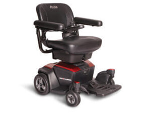 small red power wheelchair
