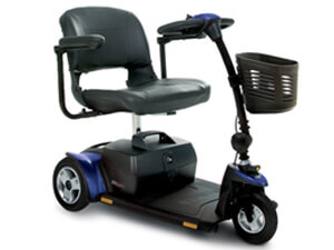 blue 3 wheel mobility scooter